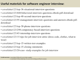 software engineer cover letter top 5 software engineer cover letter sles