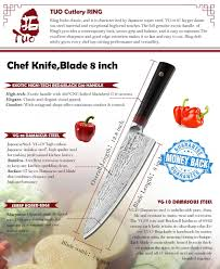 aliexpress com buy tuobituo 8inch chef knife japanese vg10