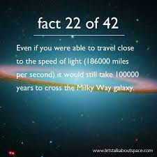 what is the speed of light space fact 22 speed of light milky way solar system universe