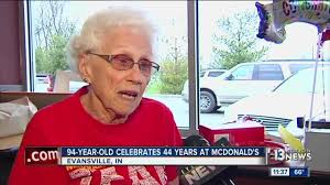 44 Years Old by 94 Year Old Woman Works At Mcdonald U0027s Video