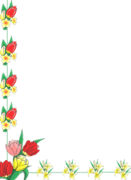 Clip Art Flowers Border - frames and borders