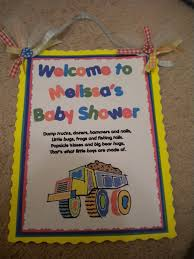 baby shower sign in book s crafty creations construction themed baby shower sign