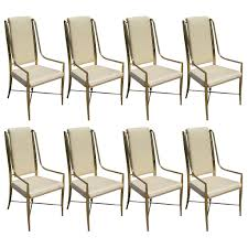 Bamboo Dining Room Chairs Set Of 8 Mastercraft Brass Faux Bamboo Dining Chairs