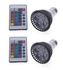 Par20 Led Light Bulbs by 2 Pack Par20 Multi Color Led Light Bulb 6 Watt 16 Colors Rgb