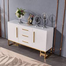 buffet sideboard cabinet storage kitchen hallway table industrial rustic modern luxurious 47 white buffet table 2 doors 3 drawers