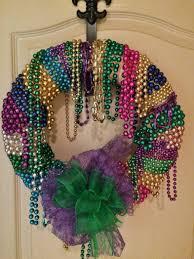 mardi gras beaded necklaces mardi gras bead wreath bowdabra