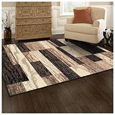 Wood Area Rug Superior Modern Rockwood Collection Area Rug 8mm Pile