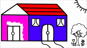 house drawing coloring pages learn colors for kids coloring book