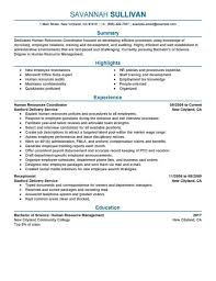 exles of hr resumes sle resume template for career free free career