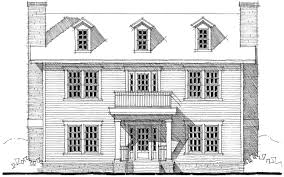 Floor Plan With Roof Plan Center Hall Colonial House Plan 44045td Architectural Designs
