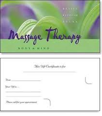 Massage Business Cards Examples R And R
