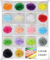 diy 8 inch 20 cm decorative flowers tissue paper pom poms wedding