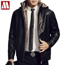 hooded motorcycle jacket compare prices on leather jackets with hood men online shopping