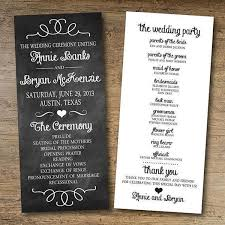 one page wedding program template papers and ink top wedding program templates everafterguide