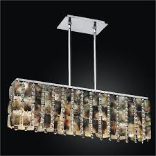 Linear Chandeliers Linear Chandelier With Mother Of Pearl And Crystal Moon Beams
