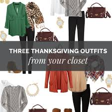 three thanksgiving dinner you can make from your closet