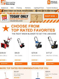 home depot black friday snowblower sale 75 best email content reviews images on pinterest top rated
