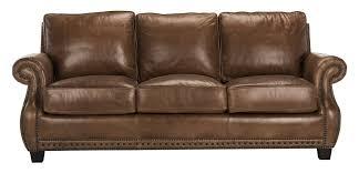 leather sofa with nailheads traditional top grain leather nailhead sofa safavieh com