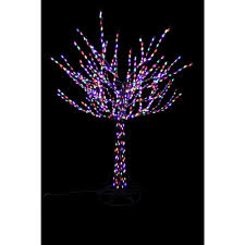 upc 030075646452 8 ft pre lit led bare branch tree with multi