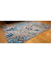 Coral Colored Area Rugs by Amazing Deal Generations New Contemporary Flowers Modern Area Rug