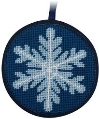 christmas needlepoint peterson snowflake christmas ornament needlepoint kit su7003