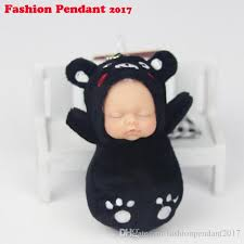 baby keychains sleeping baby keychain simulation