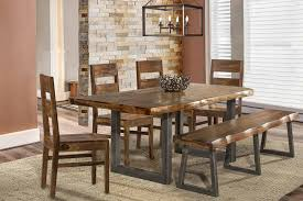 hillsdale emerson 6 piece rectangle dining set with bench