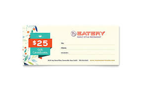 gift certificates word templates u0026 publisher templates