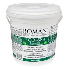 roman eco 888 1 gal strippable clear wallcovering adhesive 018801