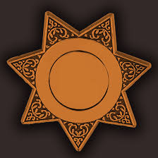 plastic police badges blank gold lone star