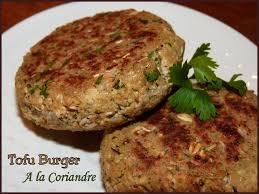 cuisiner le tofu ferme tofu burger à la coriandre les délices de capu