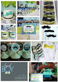 mustache and bow tie baby shower inspiration wednesday baby shower theme ideas babyshower