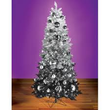 black christmas tree the black ombré decorated christmas tree hammacher schlemmer