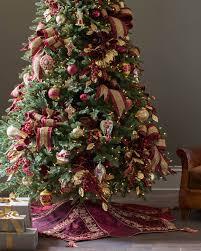 brown christmas tree skirt burgundy and gold christmas tree skirt balsam hill