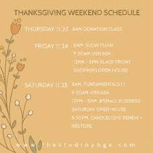 thankful thanksgiving hours shop small and self care the studio