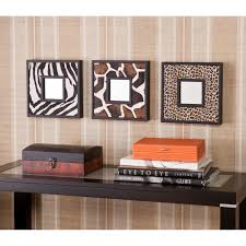 upton home abana animal print decorative wall mirror 3 pc set