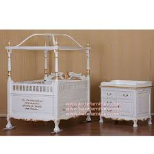 classic canopy baby crib indonesian french furniture teak