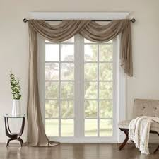 216 Inch Curtains Buy Sheer Window Scarf From Bed Bath U0026 Beyond