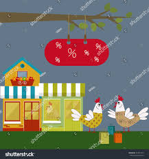 cute abstract hens shopping bags colorful stock vector 324817373
