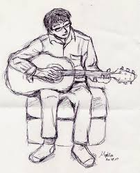 sketch guitar player by maplerose on deviantart