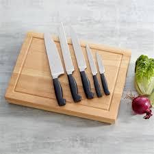 set couteau de cuisine vente set de 5 couteaux de cuisine avec planche à découper en bois