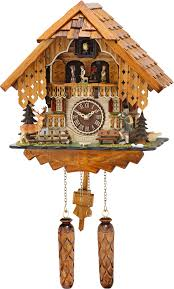 Clock Shop Cuckoo Clock Quartz Movement Chalet Style 32cm By Trenkle Uhren