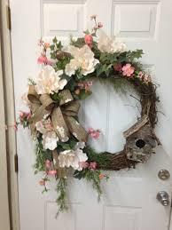 Grapevine Floral Design Home Decor The Grapevine Wreath Using Magnolia Blossoms Apple Blossoms Ivy A