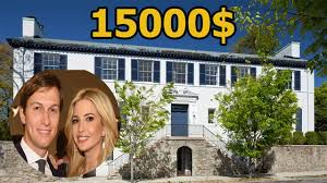 ivanka trump and jared kushner pay 15 000 a month to rent home