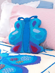 Knitted Cushions Free Patterns Butterfly Pillow Pattern Yarnspirations