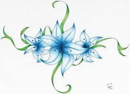 flower tattoo colored by vaporshine on deviantart