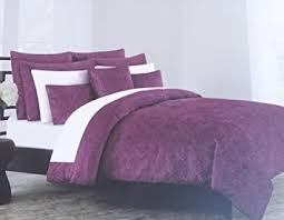 Purple Velvet Comforter Sets Queen Amazon Com Duvet Cover Set Tahari Bedding Soft Luxurious Velvet 3