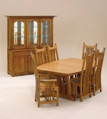 mission style dining table dining room craftsman with area rug