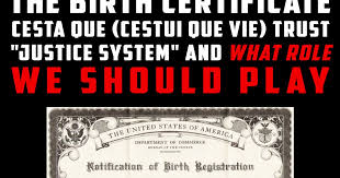 Birth Certificate Correction Sle Letter The Birth Certificate Cesta Que Cestui Que Vie Trust