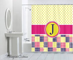 Monogram Shower Curtains 26 Best Monogrammed Shower Curtains Images On Pinterest Shower